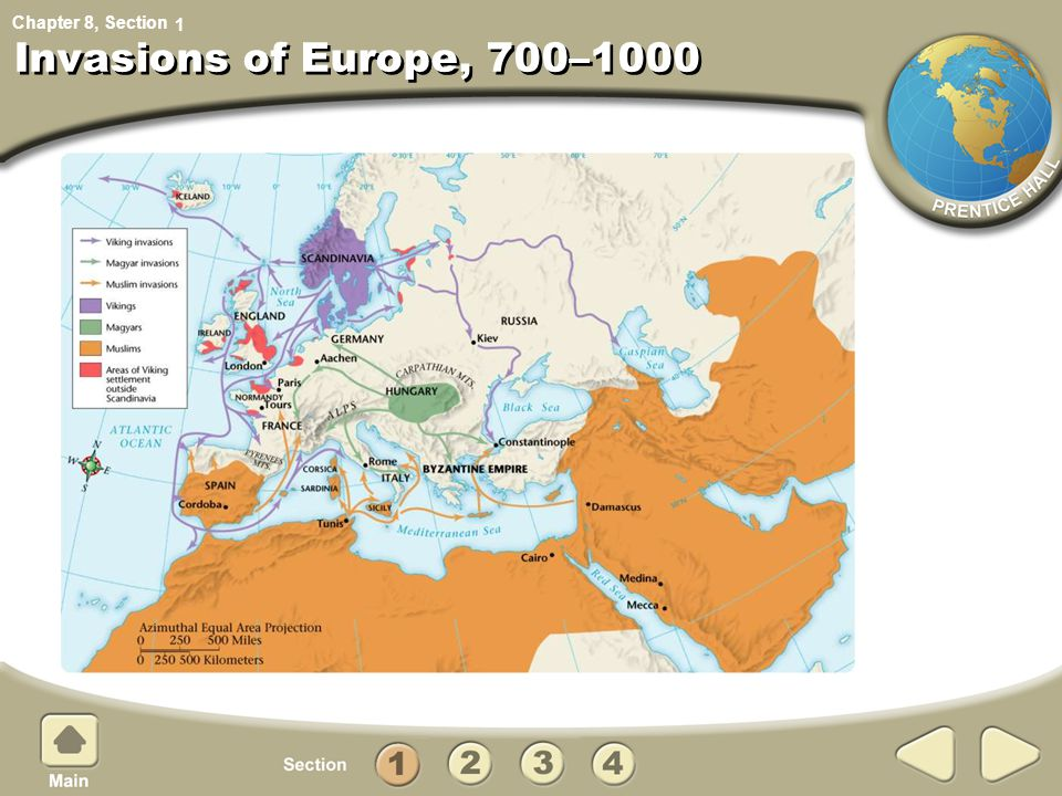 1 Invasions of Europe, 700–1000