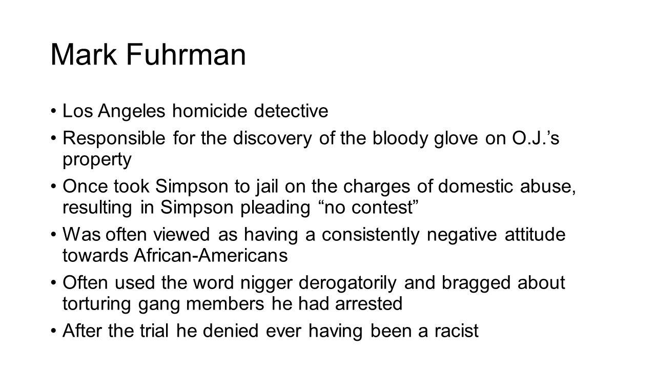 Mark Fuhrman Los Angeles homicide detective