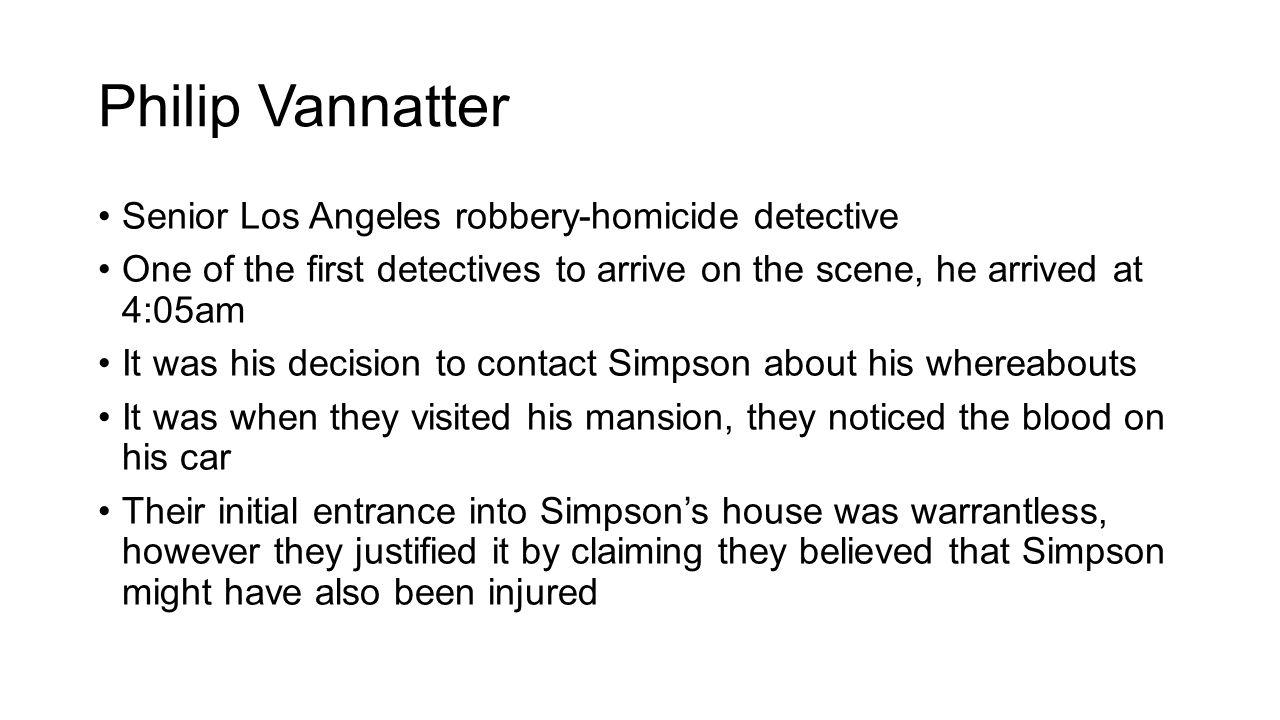 Philip Vannatter Senior Los Angeles robbery-homicide detective
