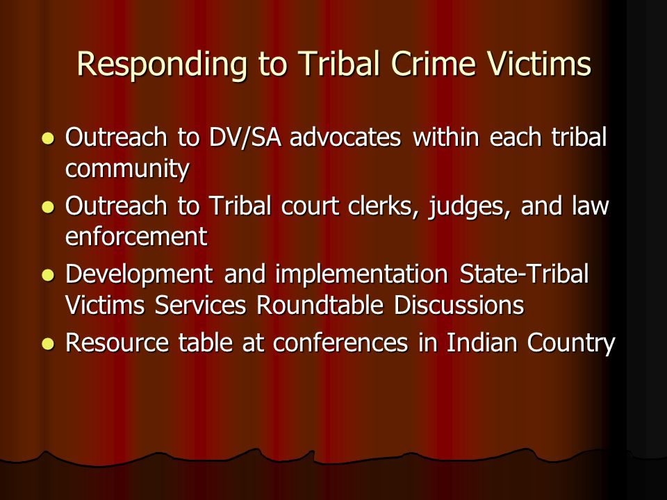 Responding to Tribal Crime Victims