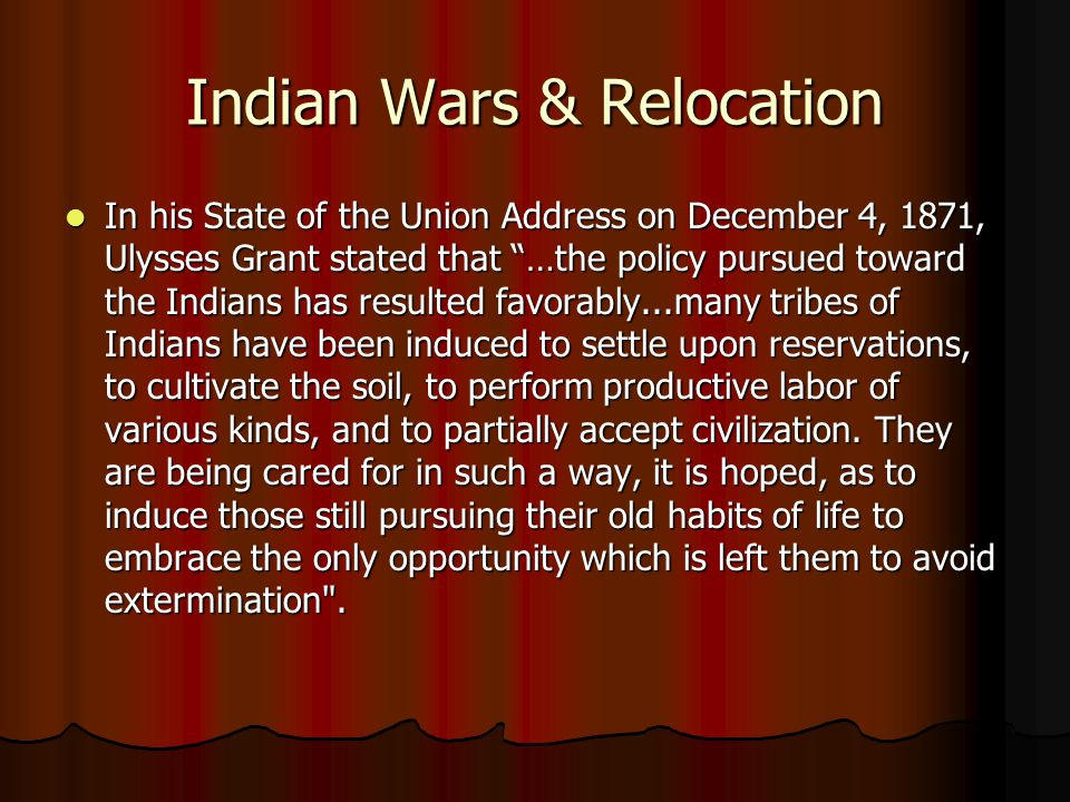 Indian Wars & Relocation