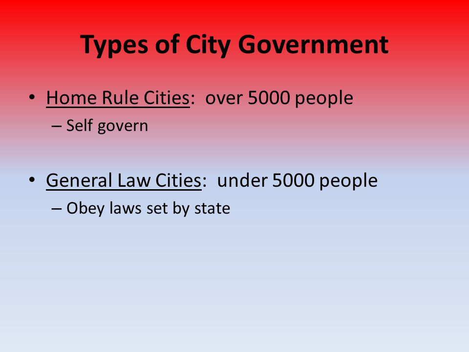 Types of City Government