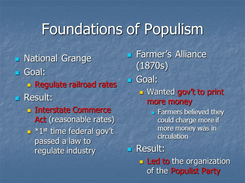 Foundations of Populism