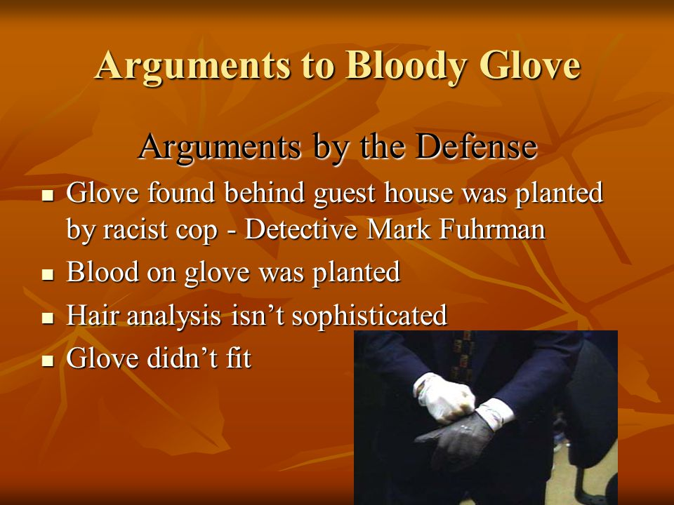 Arguments to Bloody Glove