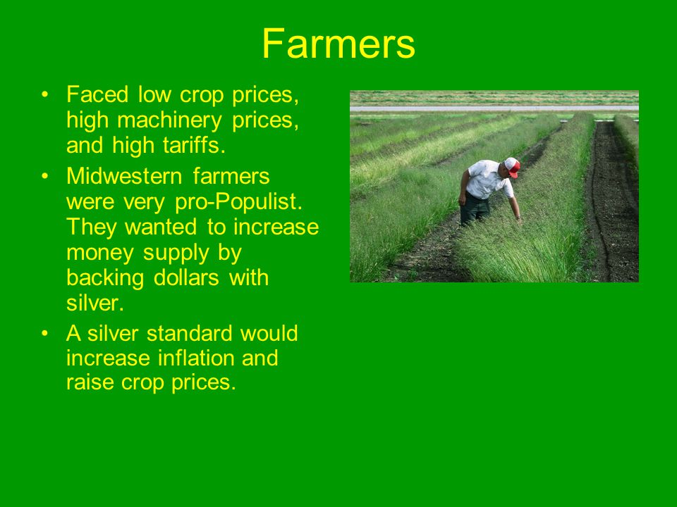 Farmers Faced low crop prices, high machinery prices, and high tariffs.