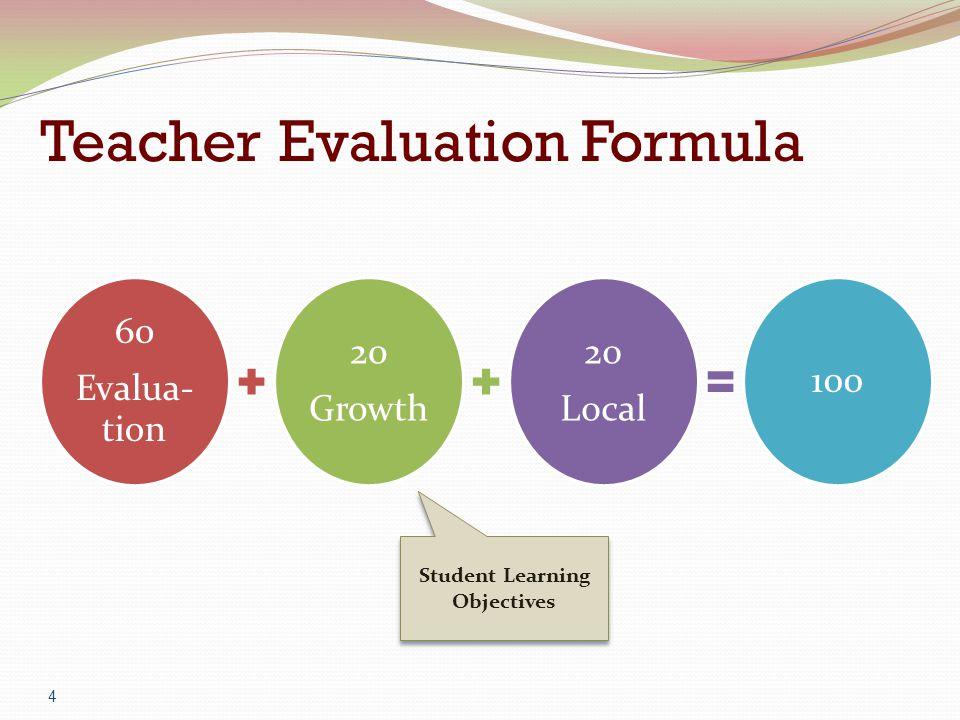 Teacher Evaluation Formula