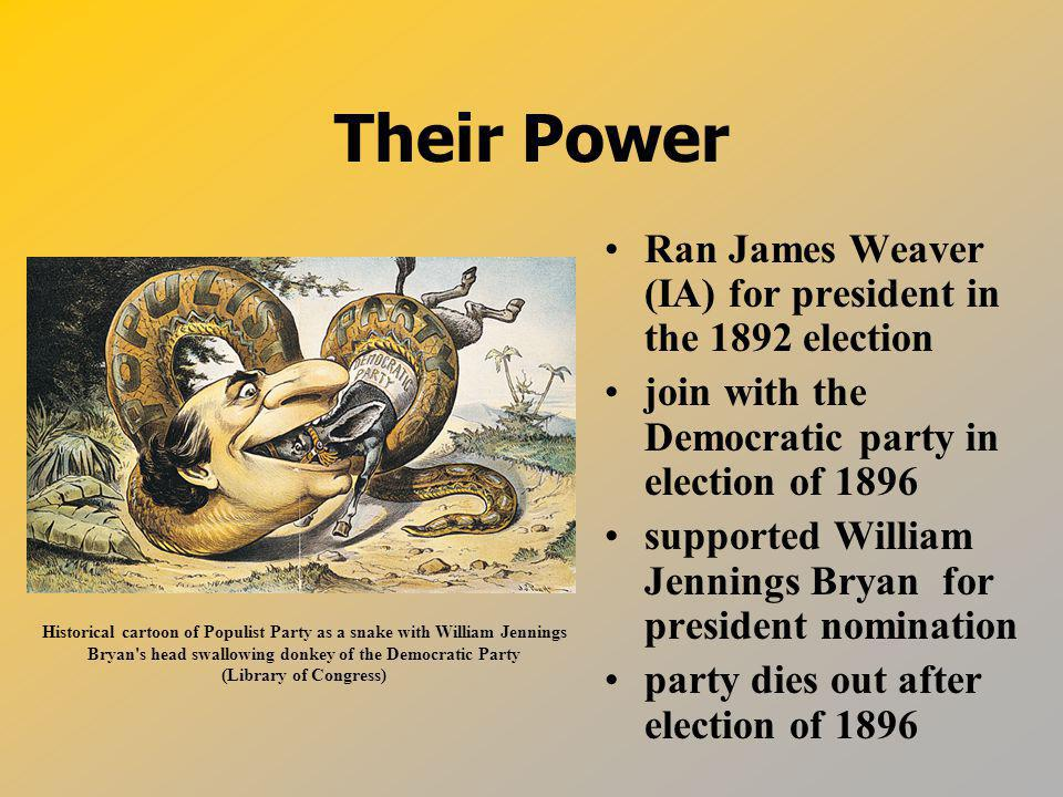 Their Power Ran James Weaver (IA) for president in the 1892 election