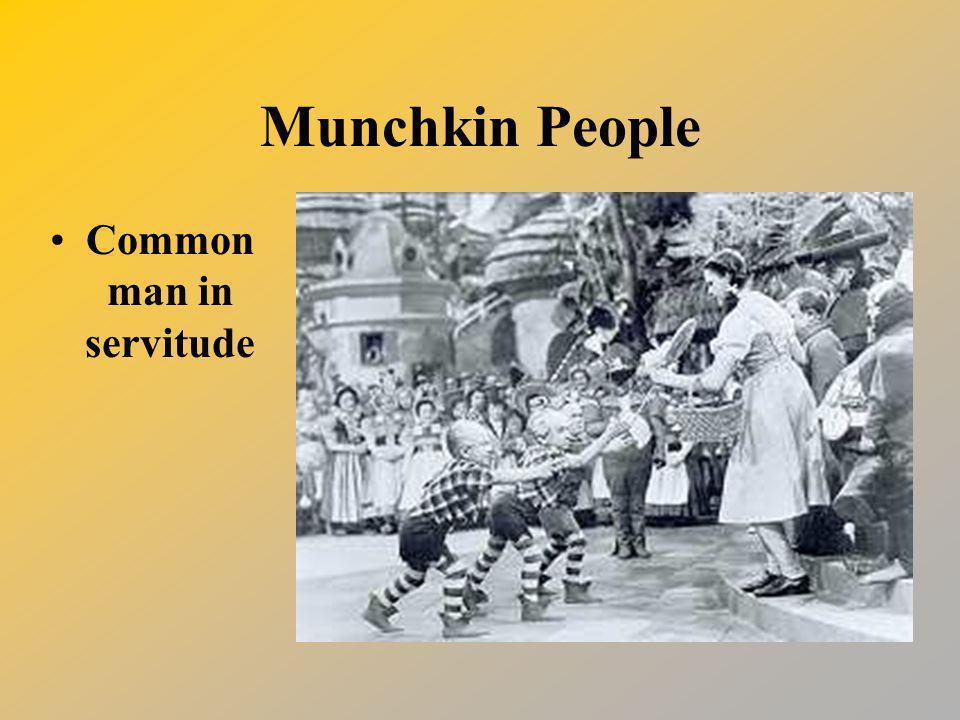 Common man in servitude