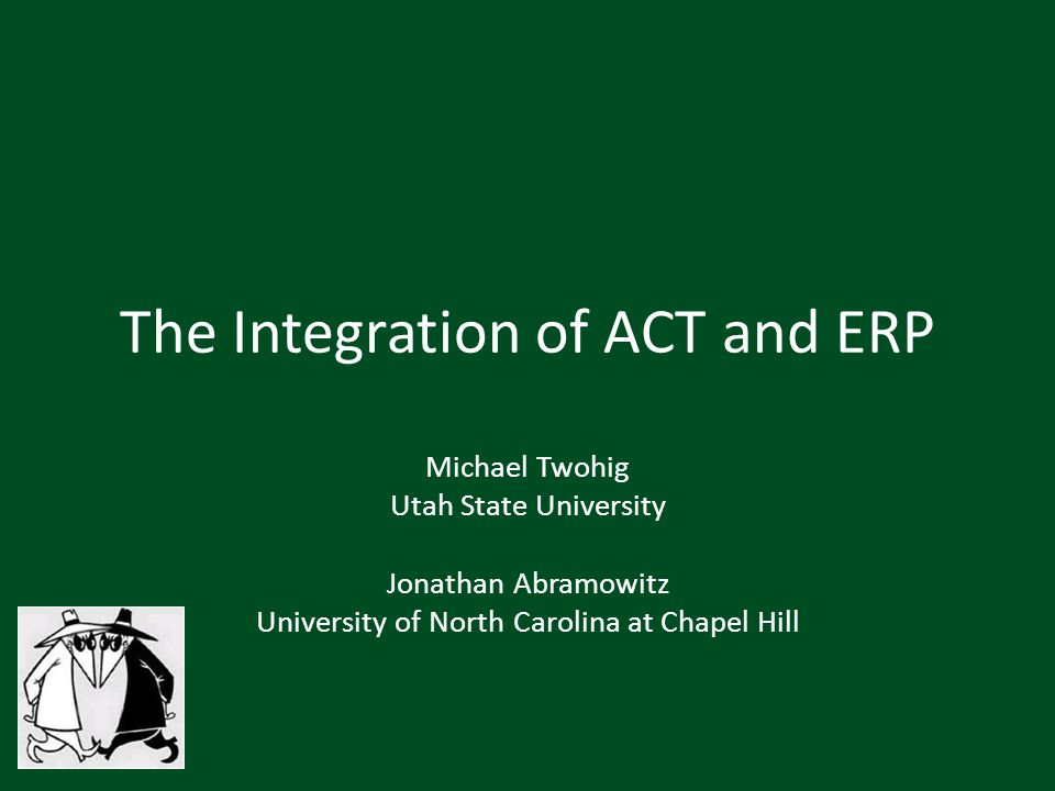 The Integration of ACT and ERP