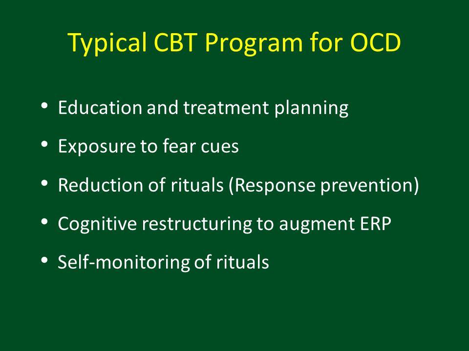 Typical CBT Program for OCD