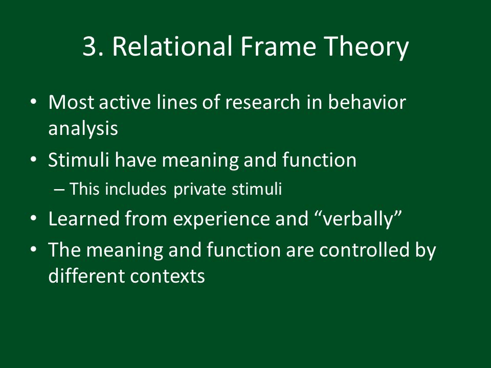 3. Relational Frame Theory