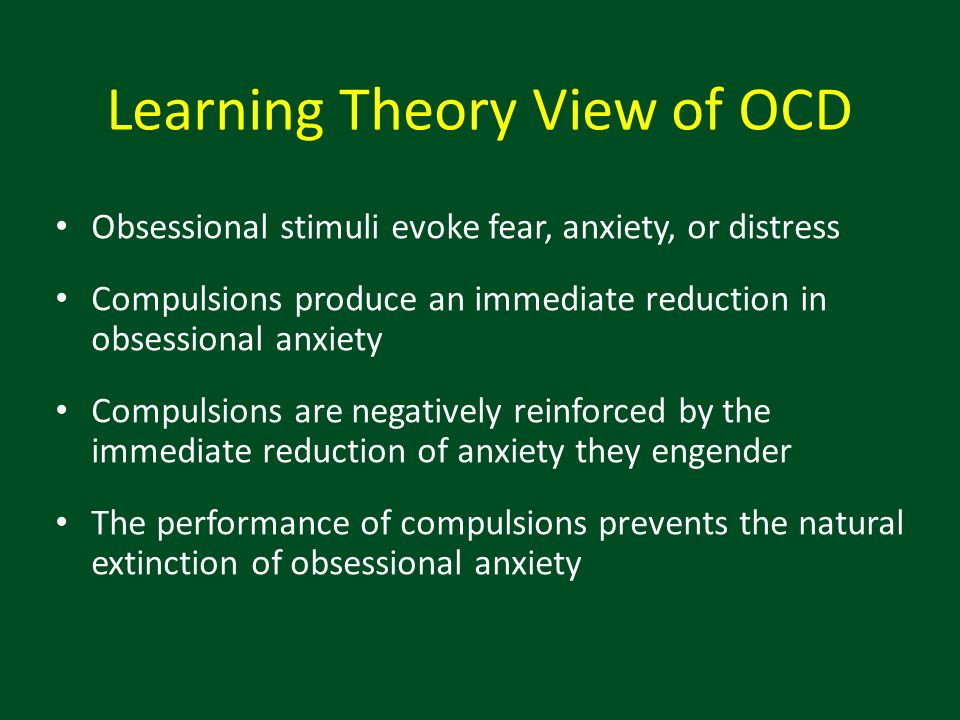 Learning Theory View of OCD