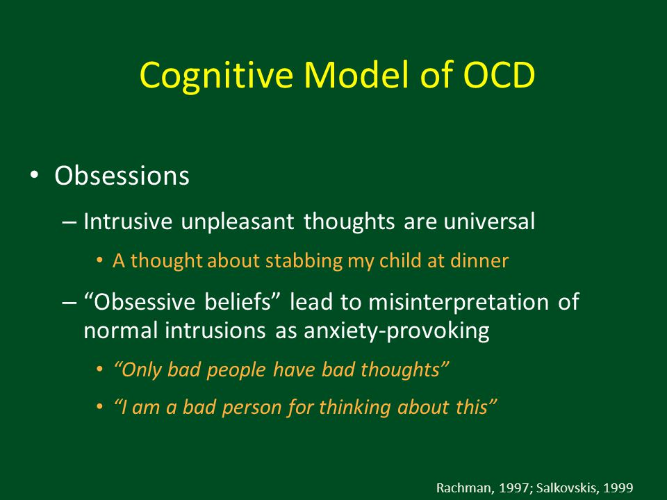 Cognitive Model of OCD Obsessions