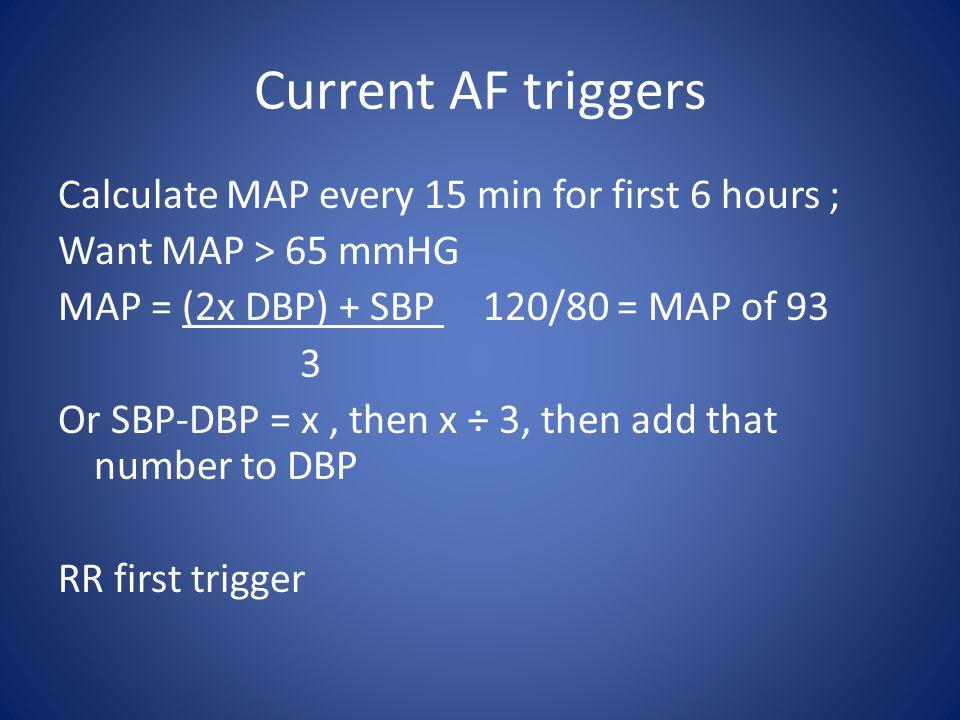 Current AF triggers