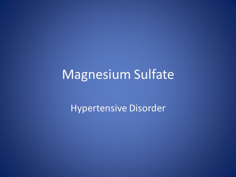 Hypertensive Disorder