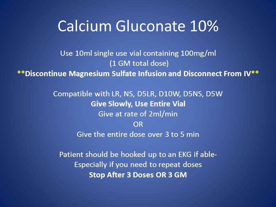 Calcium Gluconate 10%
