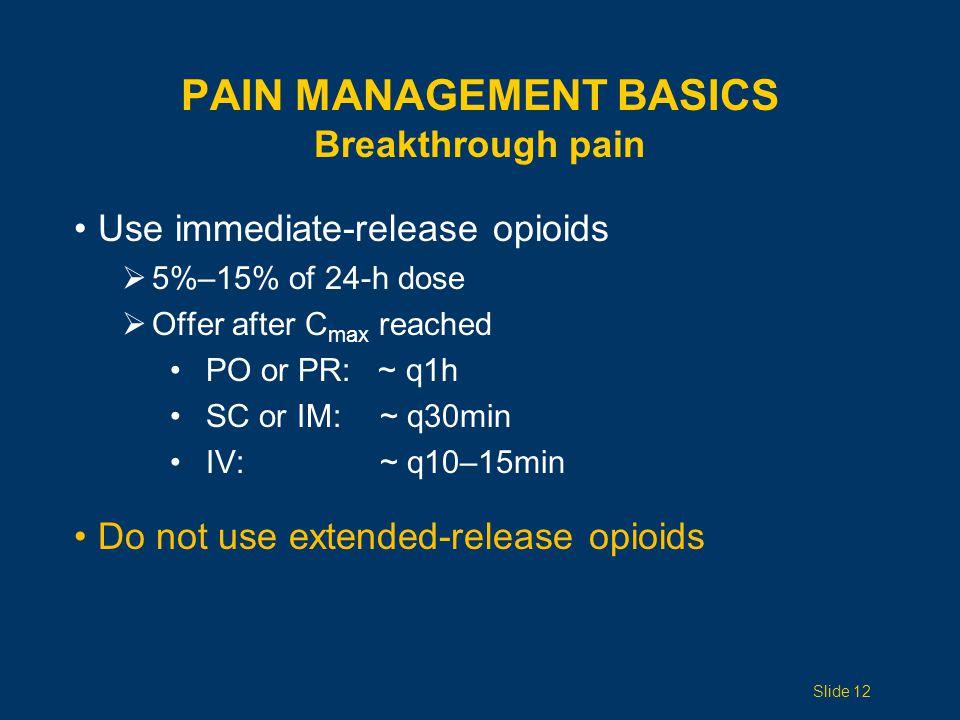 Pain Management Basics Breakthrough pain