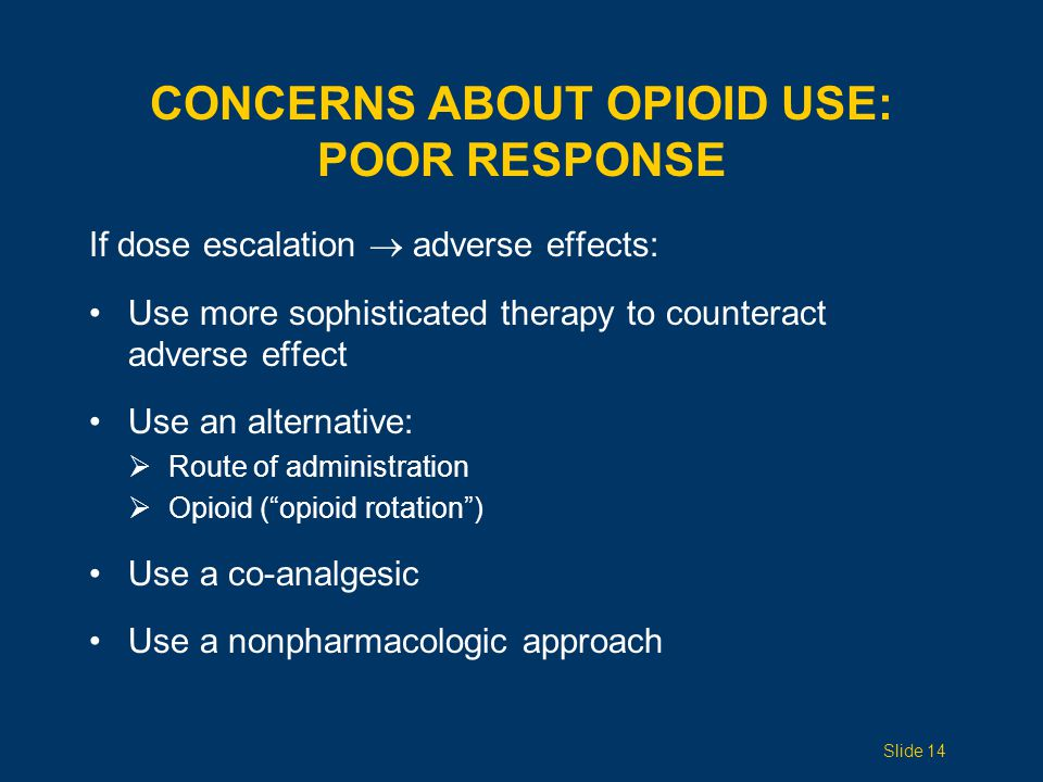 Concerns ABOUT opioid use: POOR RESPONSE
