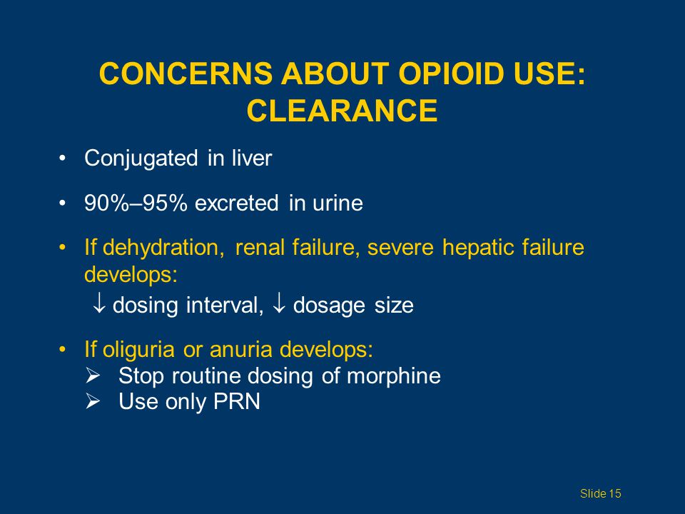 Concerns ABOUT opioid use: Clearance