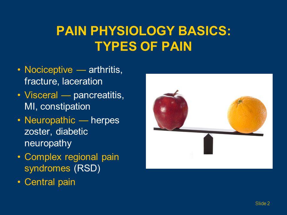 PAIN PHYSIOLOGY BASICS: TYPES OF PAIN