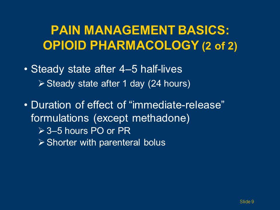 Pain Management Basics: Opioid pharmacology (2 of 2)