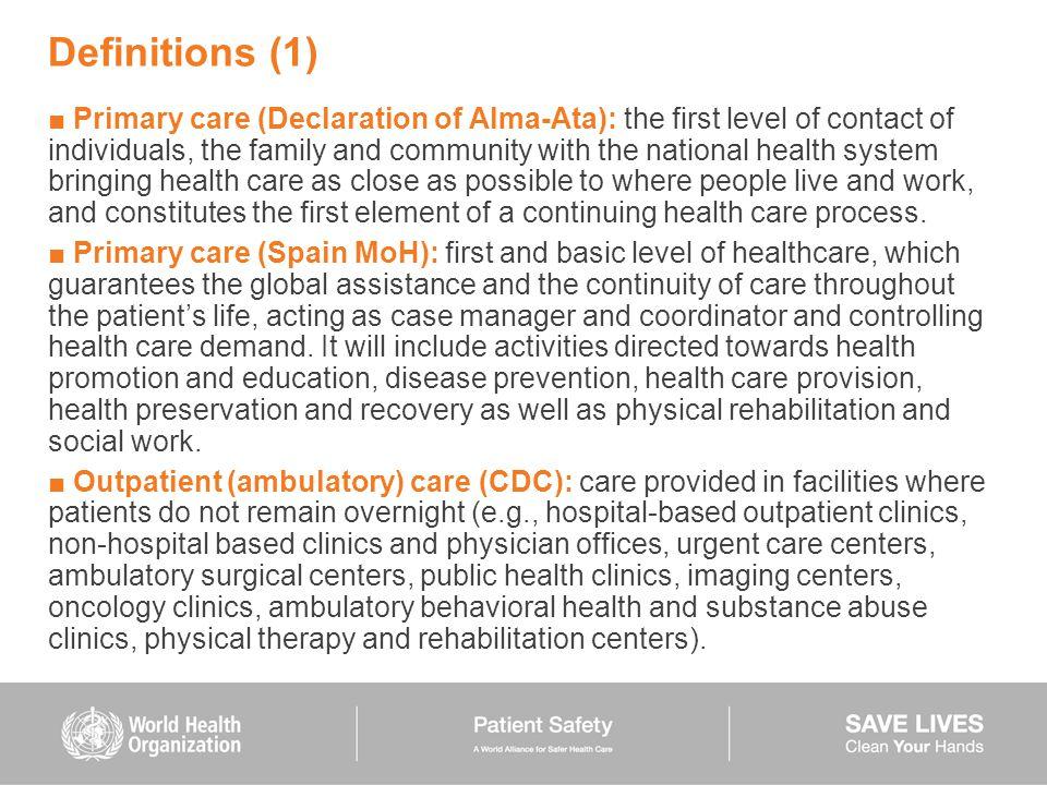 primary health care definition pdf