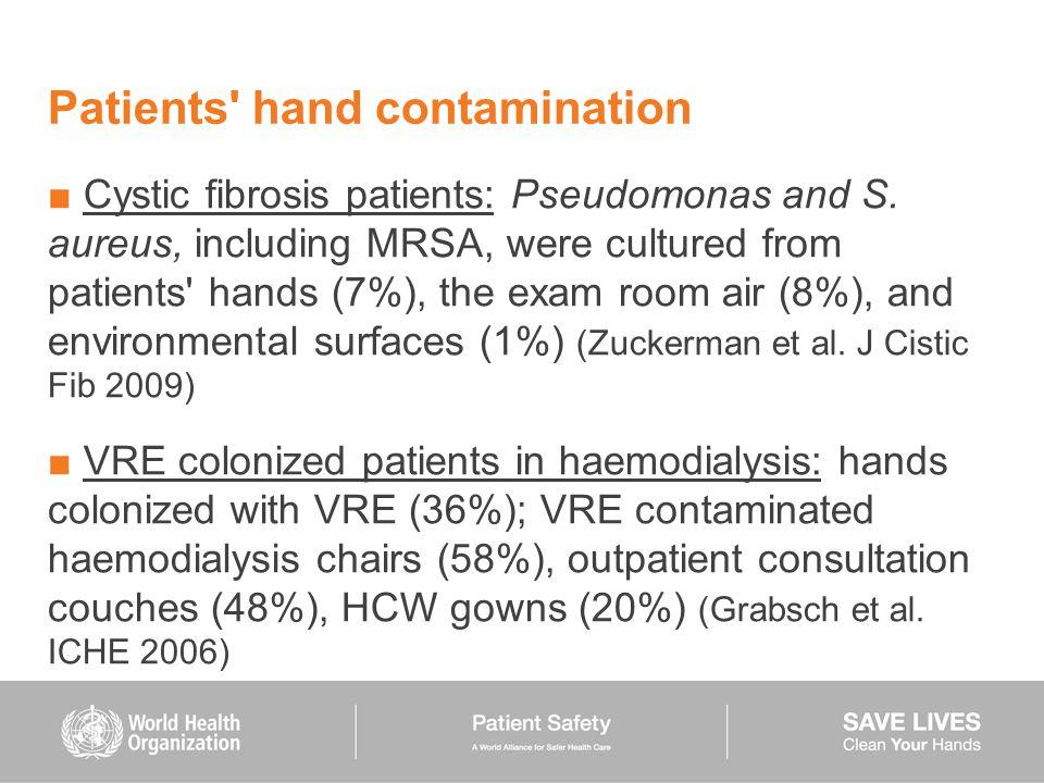 Patients hand contamination