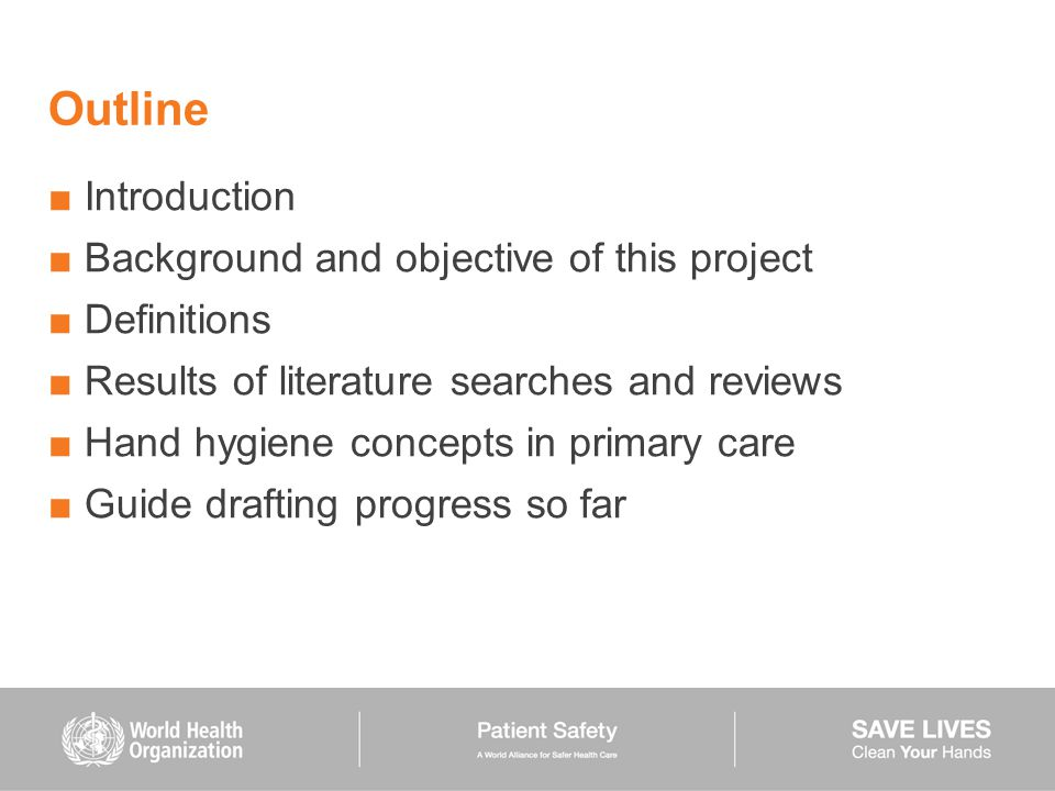 Outline Introduction Background and objective of this project