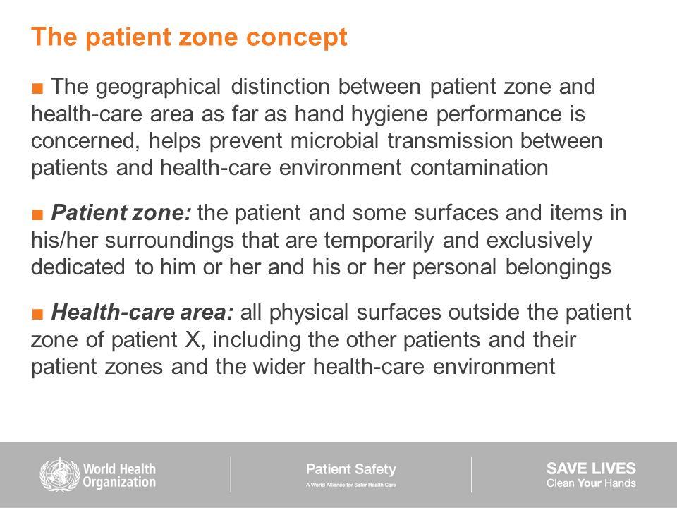 The patient zone concept