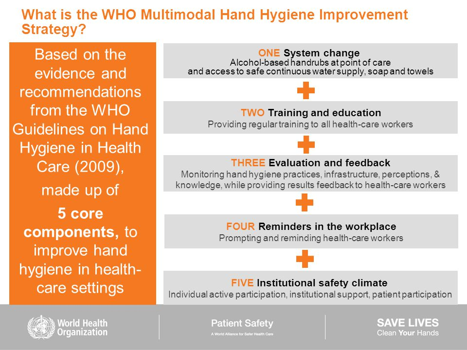What is the WHO Multimodal Hand Hygiene Improvement Strategy