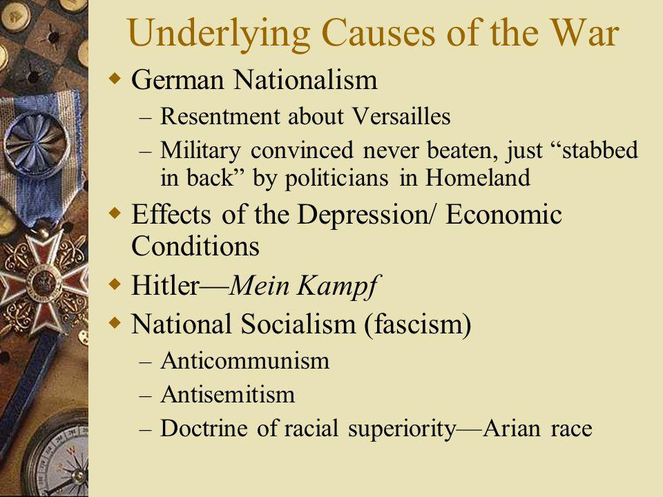 Underlying Causes of the War