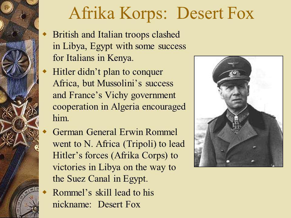 Afrika Korps: Desert Fox