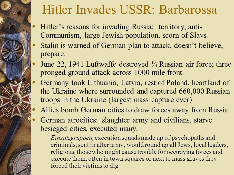 Hitler Invades USSR: Barbarossa