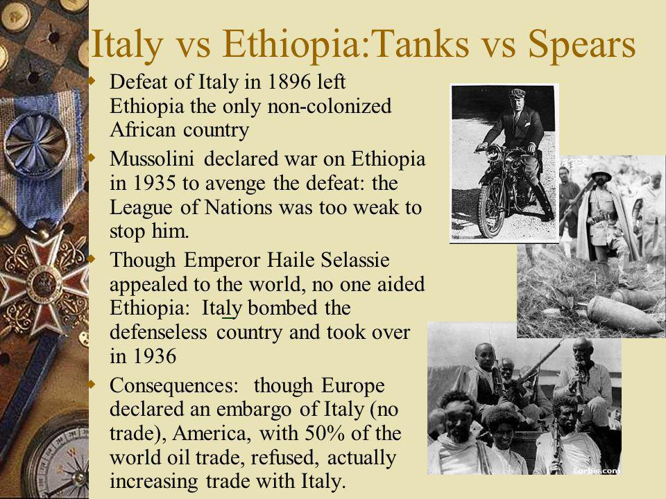 Italy vs Ethiopia:Tanks vs Spears