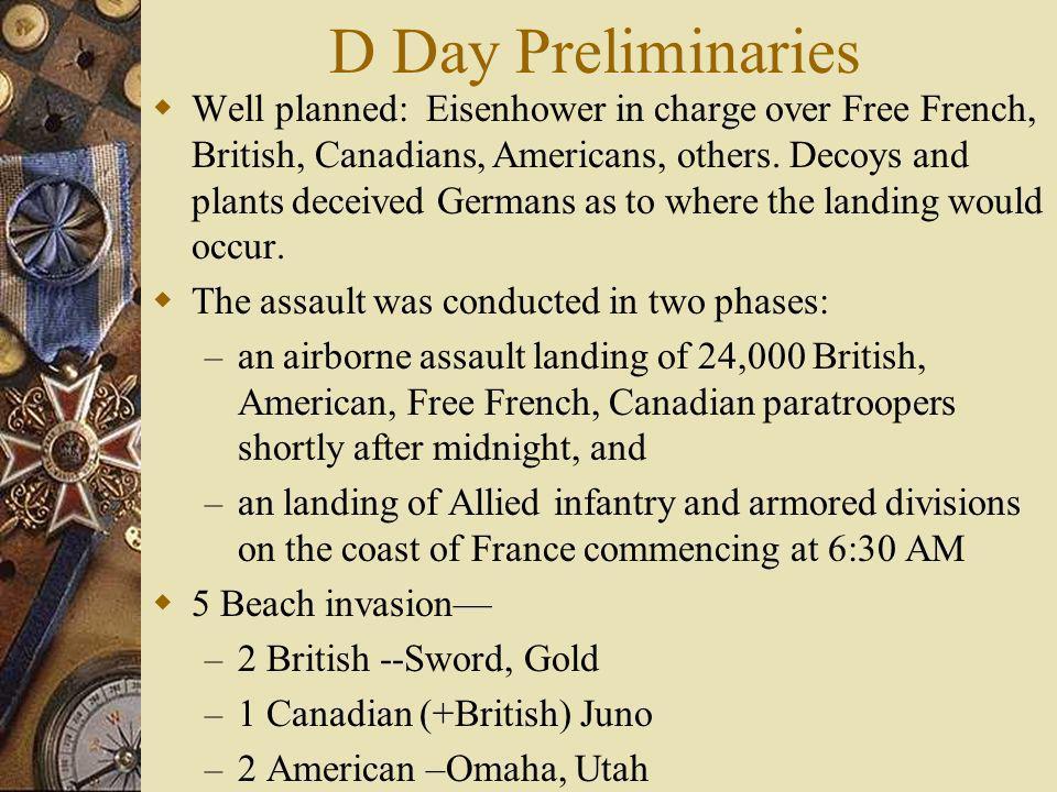 D Day Preliminaries
