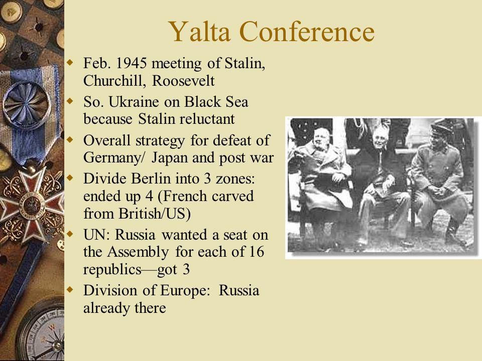 Yalta Conference Feb. 1945 meeting of Stalin, Churchill, Roosevelt