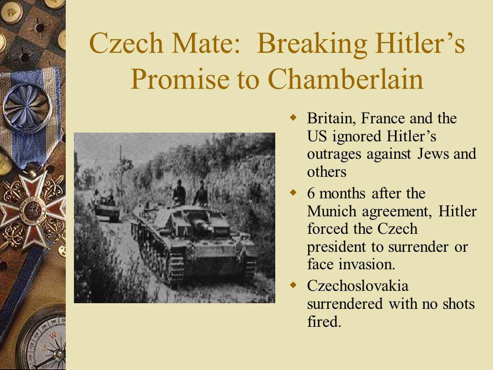 Czech Mate: Breaking Hitler's Promise to Chamberlain