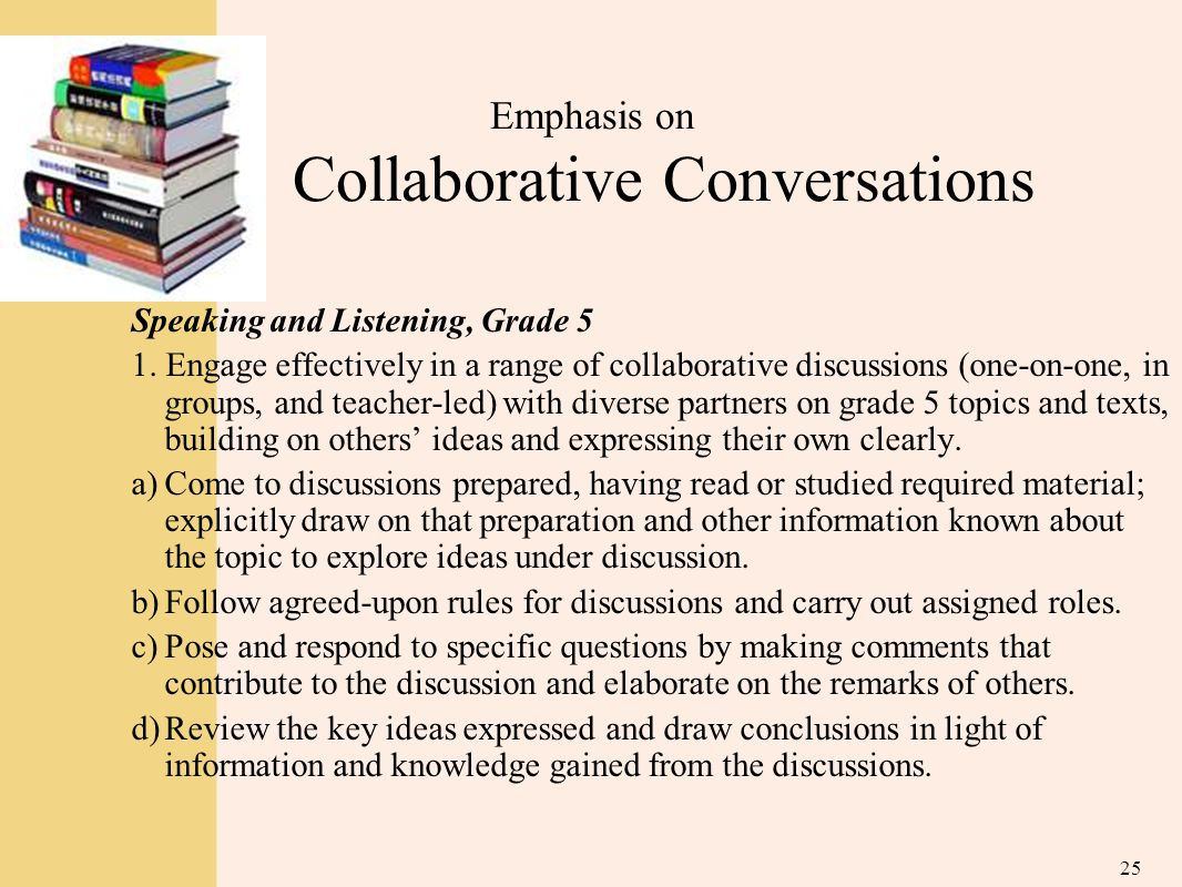 Emphasis on Collaborative Conversations