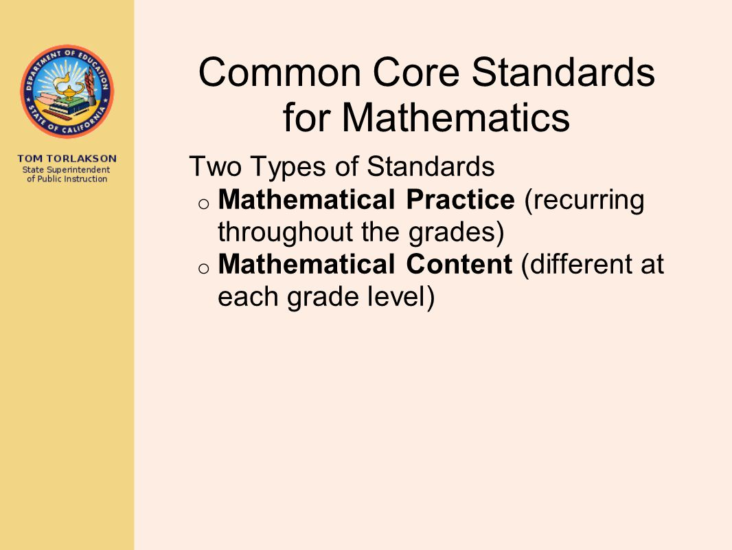 Common Core Standards for Mathematics