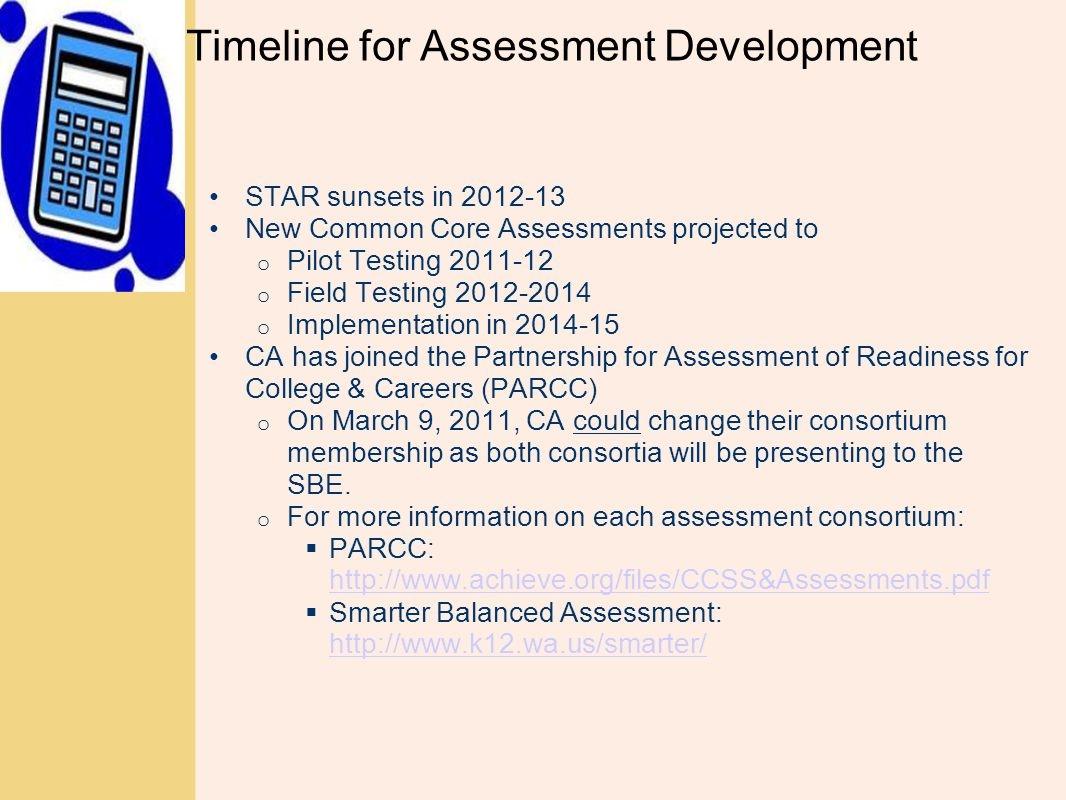Timeline for Assessment Development