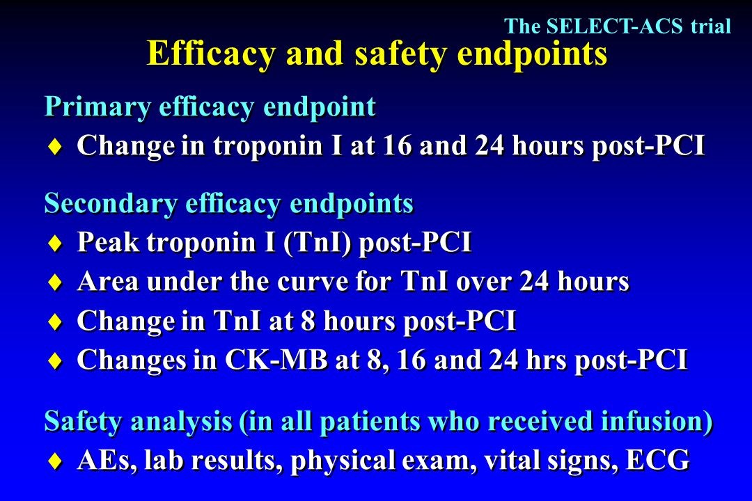 Efficacy and safety endpoints