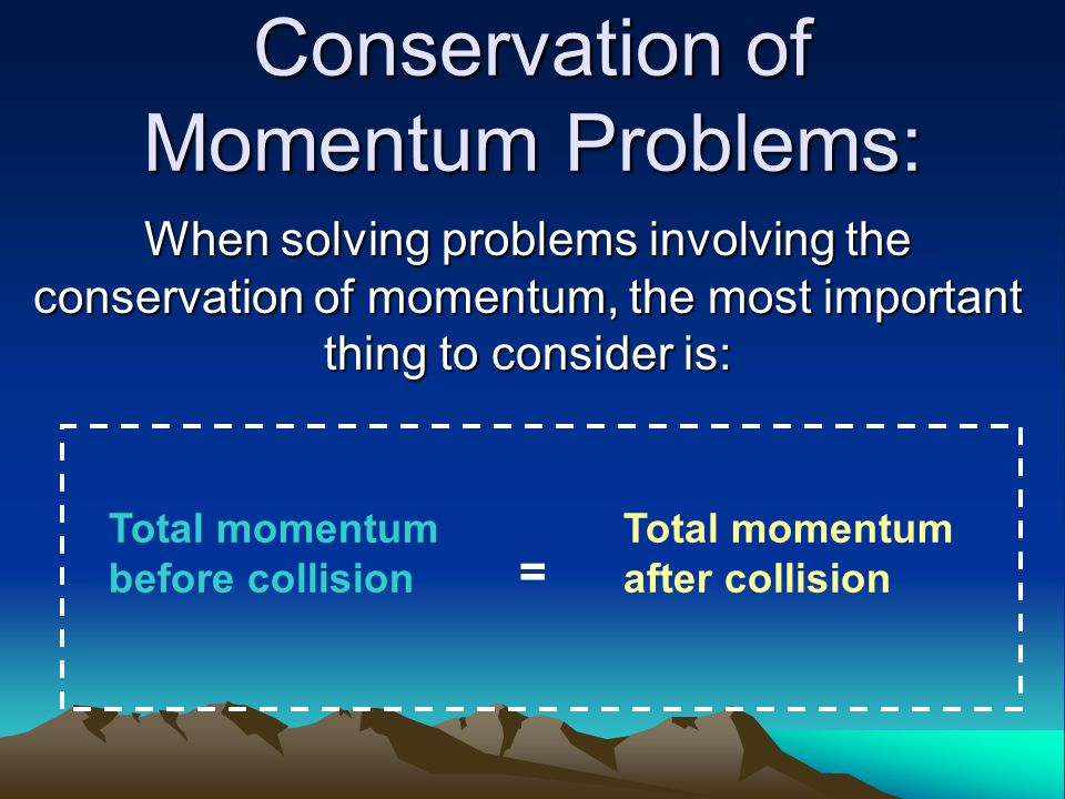 Conservation of Momentum Problems: