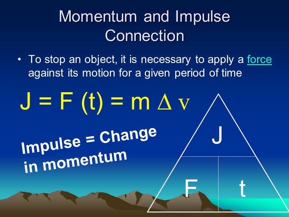 Momentum and Impulse Connection