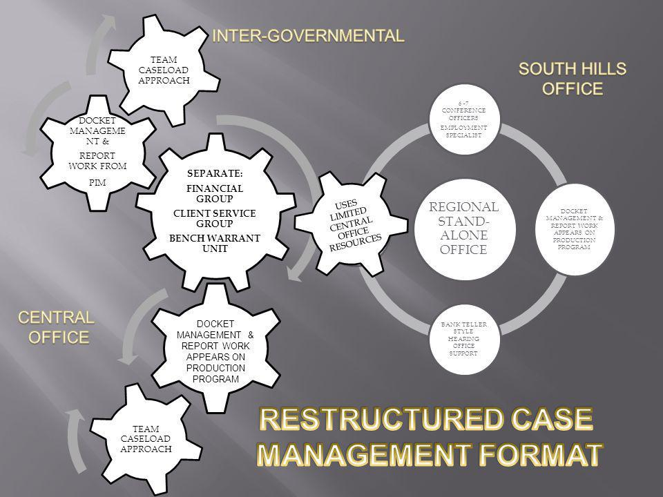 RESTRUCTURED CASE MANAGEMENT FORMAT