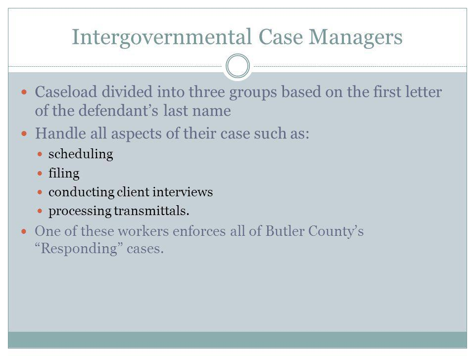 Intergovernmental Case Managers
