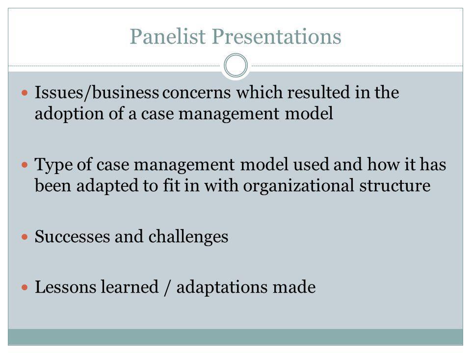 Panelist Presentations