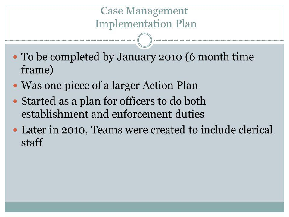 Case Management Implementation Plan
