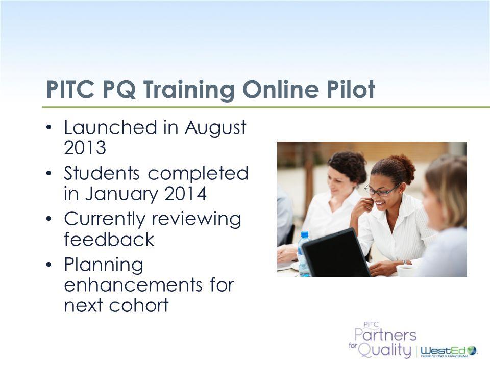 PITC PQ Training Online Pilot