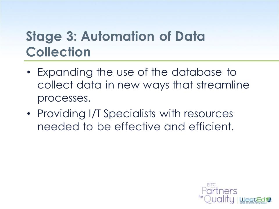 Stage 3: Automation of Data Collection