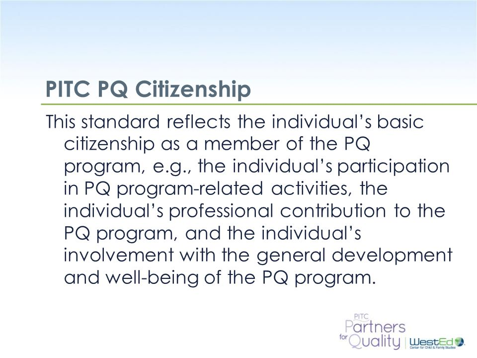 PITC PQ Citizenship